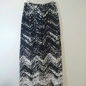 Kay Unger skirt long printed size 8